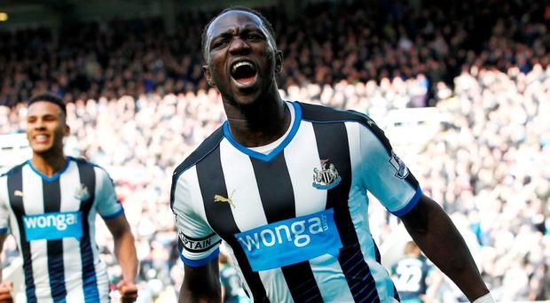 Moussa Sissoko celebrates scoring Newcastle's second goal against Swansea City. Photo: Craig Brough/Action Images via Reuters