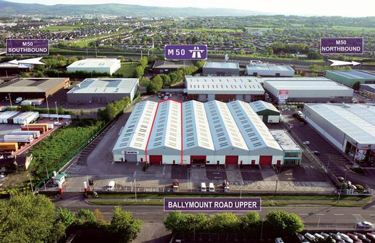 William Harvey & Co is quoting €70,000 per annum for Unit B5 at the Dockrell's Complex in west Dublin