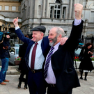 Brothers Michael (left) and Danny Healy-Rae Photo: Niall Carson /PA Wire