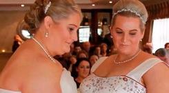 Dream come true: Christina Procter, left, and Amy Gavin on their wedding day in Kildare