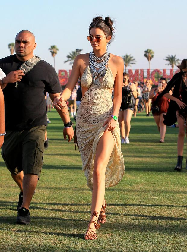 Kendall Jenner is seen at The Coachella Valley Music and Arts Festival on April 15, 2016 in Los Angeles, California. (Photo by Bauer-Griffin/GC Images)