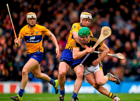 Eoin Murphy, Kilkenny, in action against Podge Collins, Clare
