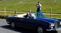 Chris Evans driving the 1976 Rolls Royce Corniche. Photo: Domnick Walsh