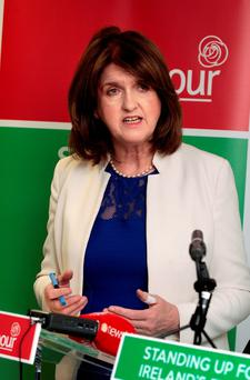 Joan Burton's Labour favours the retention of Irish Water. Photo: Tom Burke