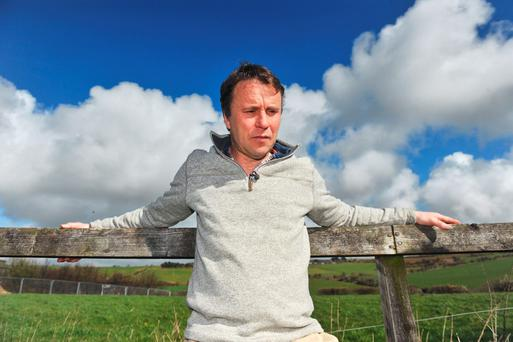 Peter Kingston at his home, adjacent to his family farm in Nohoval, Co Cork. Photo: Daragh McSweeney