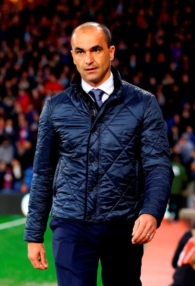 Everton manager Roberto Martinez during the Barclays Premier League match at Selhurst Park. Photo: Gareth Fuller/PA