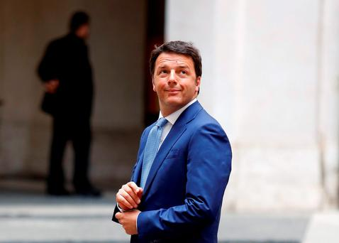 Italian Prime Minister Renzi. Photo: Reuters