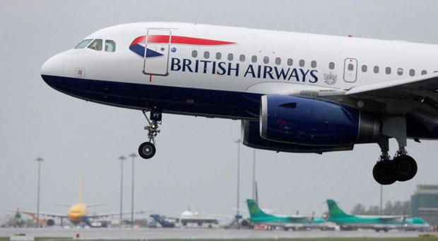 British Airways said the Airbus A320 was examined by engineers and cleared to take off for its next flight following the incident PA