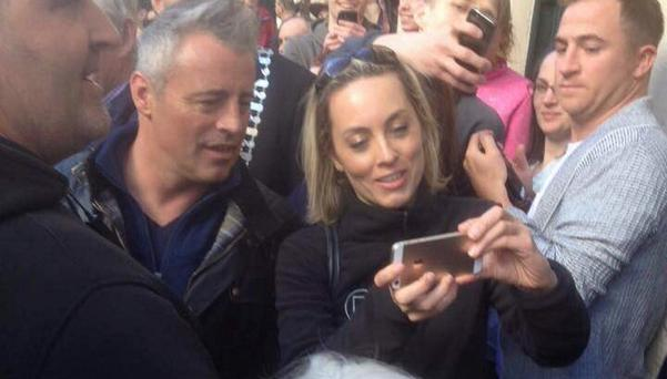 Kathryn Thomas with Matt LeBlanc in Kenmare, Co Kerry