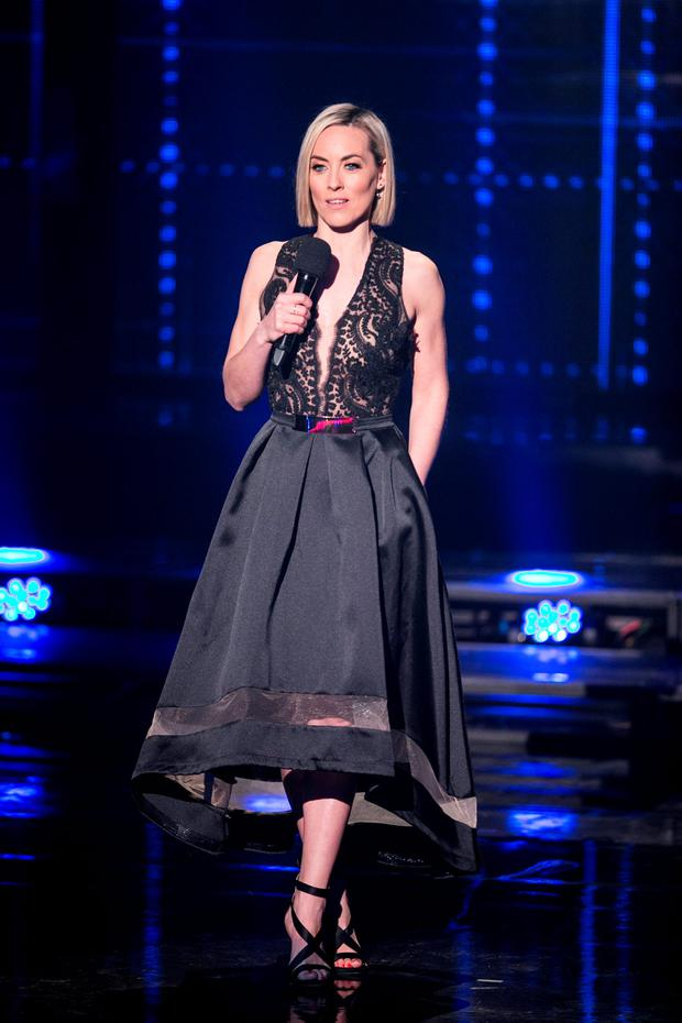 Kathryn Thomas during the semi-final of The Voice Of Ireland in The Helix