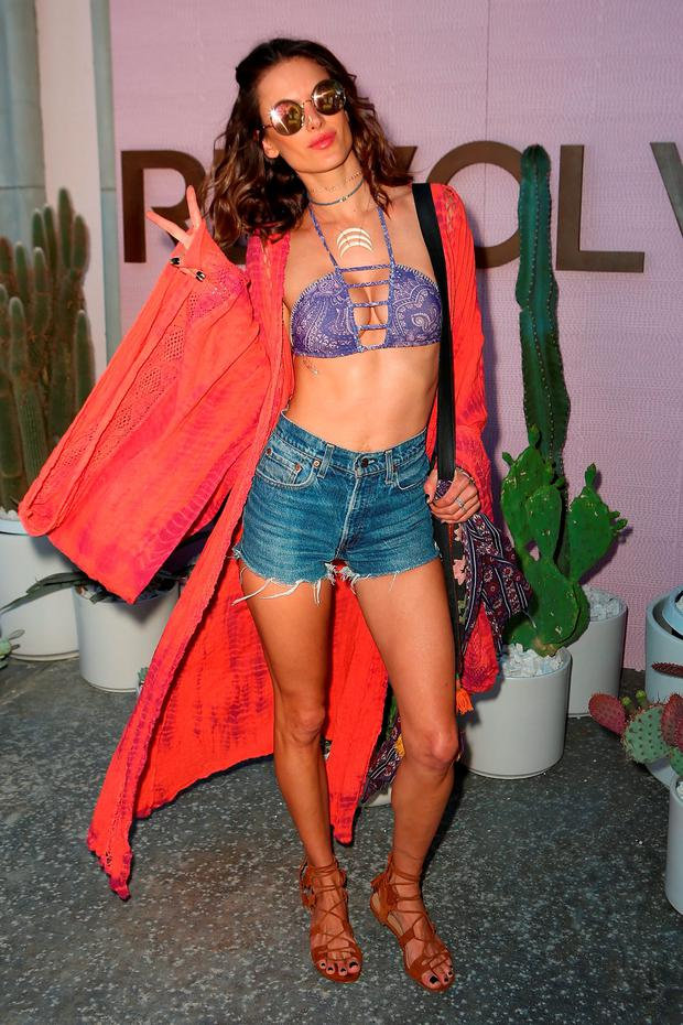Model Alessandra Ambrosio arrives at REVOLVE Desert House on April 16, 2016 in Thermal, California. (Photo by Ari Perilstein/Getty Images for A-OK Collective, LLC.)