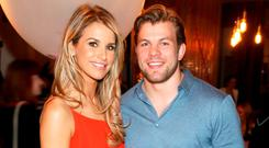 Vogue Williams and Jordi Murphy at Zizzi Dundrum's restaurant launch