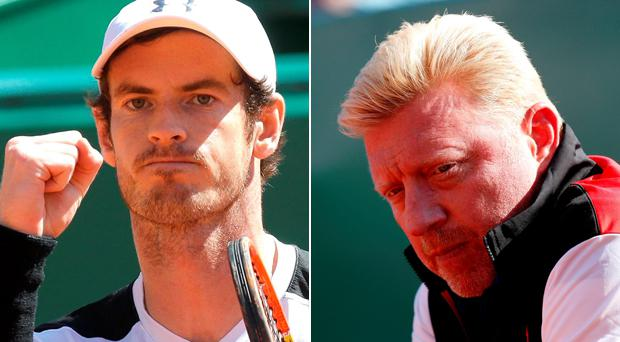 Andy Murray and Boris Becker