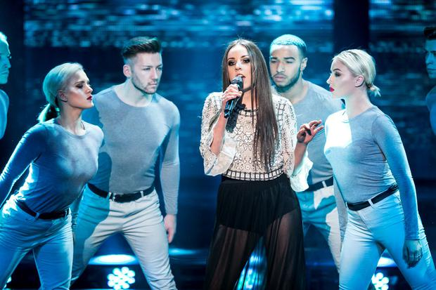 Team Bressie Moylan Brunnock during the Semi Final of The Voice Of Ireland in The Helix. kobpix NO FEE FOR REPRO