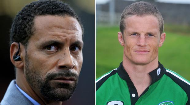 Rio Ferdinand has been working with Mel Deane to keep fit