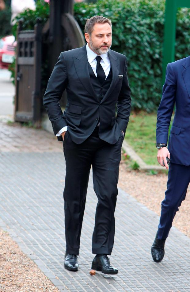 David Walliams arrives for the funeral service of Ronnie Corbett, which is being held at St John the Evangelist Church, near the late comedian's home in Shirley, Croydon, south London Credit: Steve Parsons/PA Wire