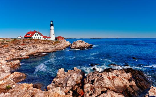 Portland Head Lighthouse in Cape Elizabeth, Maine. Photo: Deposit
