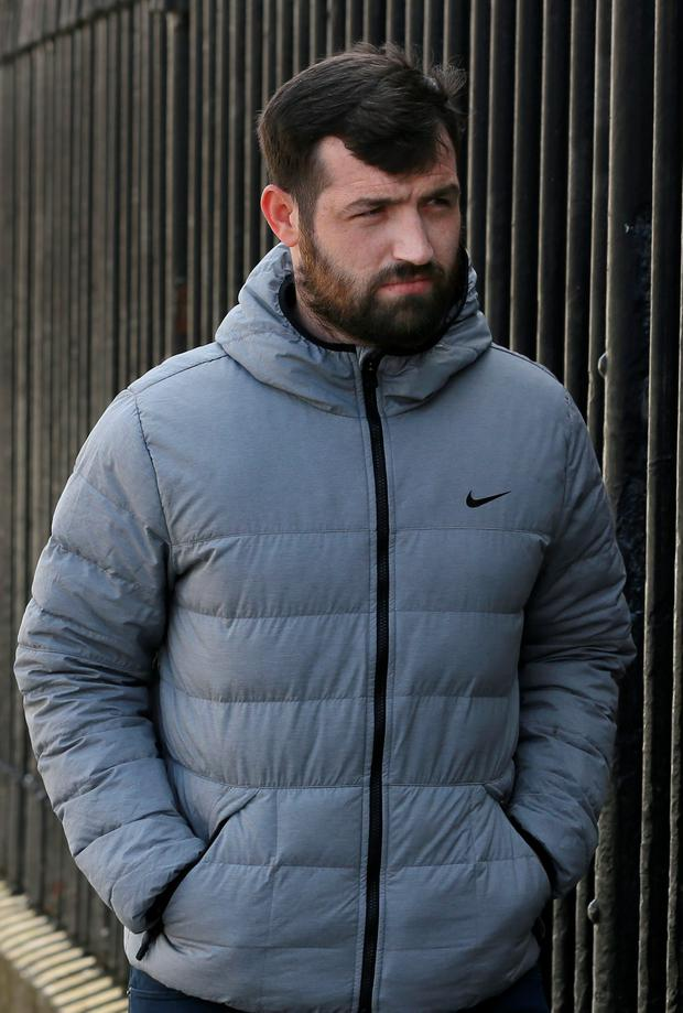 Raymond Dowdall, of Galtymore Road, Drimnagh, Dublin pictured leaving the Bridewell District Court yesterday after he appeared before the Dublin District Court.Pic: Collins Courts