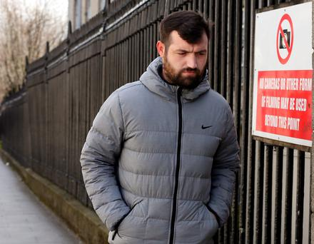 Raymond Dowdall, of Galtymore Road, Drimnagh, Dublin pictured leaving the Bridewell District Court in Dublin after he appeared before the Dublin District Court.Pic: Collins Courts