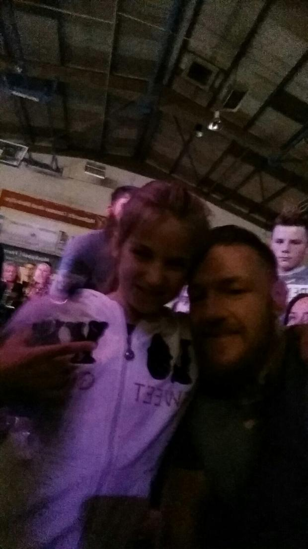 Jodie (9) with Conor McGregor