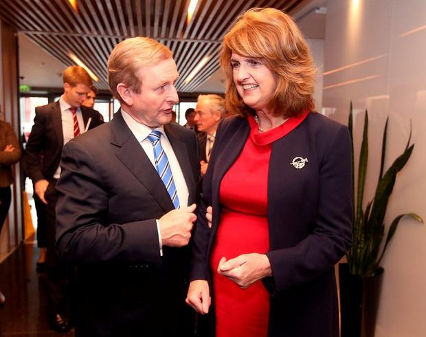 Acting Taoiseach Enda Kenny with Tánaiste and Labour Party leader Joan Burton. Despite Labour's loss of 30 seats in the election, kites have been flown about the party returning to government with Fine Gael. Photo: RollingNews.ie