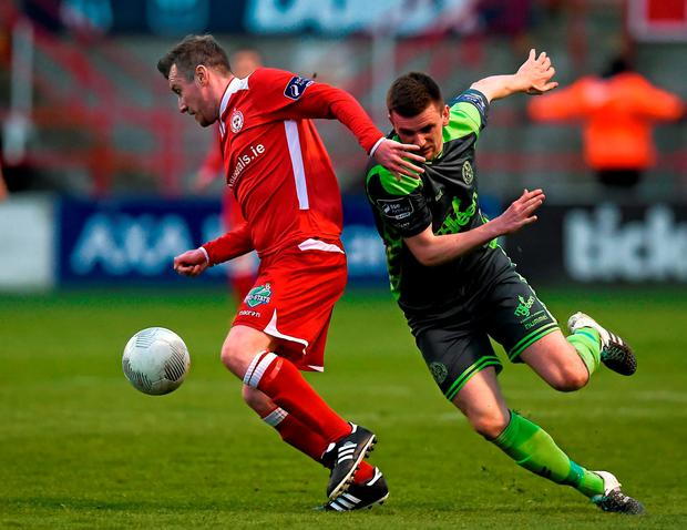 Stephen Elliott in action for Shels against Bohs