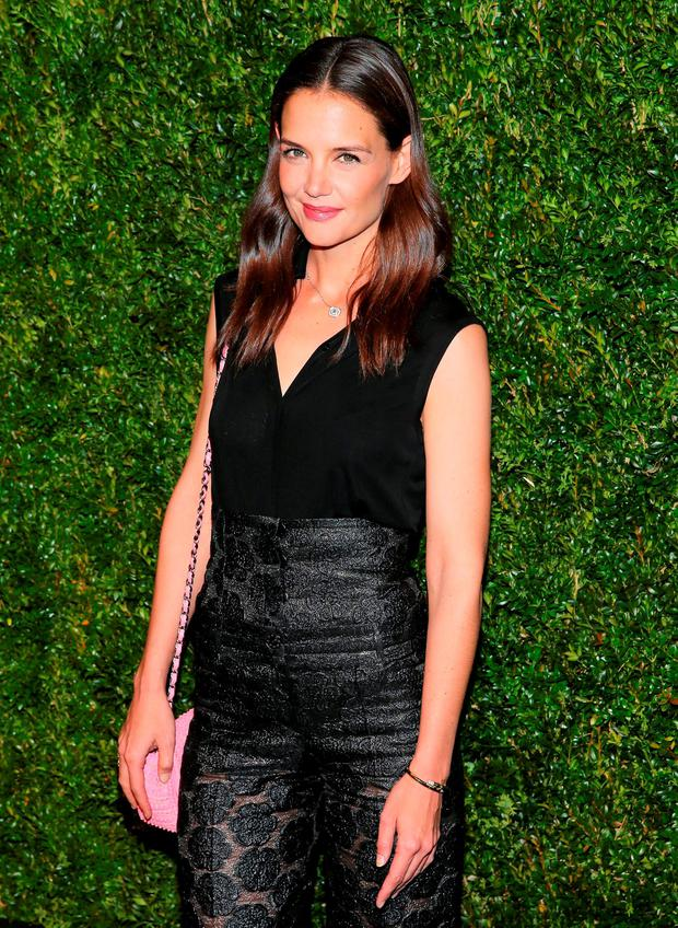 Actress Katie Holmes attends the 11th Annual Chanel Tribeca Film Festival Artists Dinner at Balthazar on April 18, 2016 in New York City. (Photo by Jemal Countess/Getty Images)