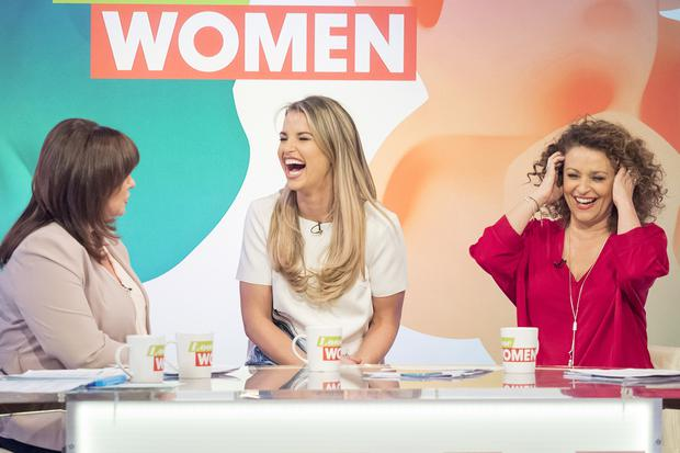 Coleen Nolan, Vogue Williams and Nadia Sawalha on the set of Loose Women