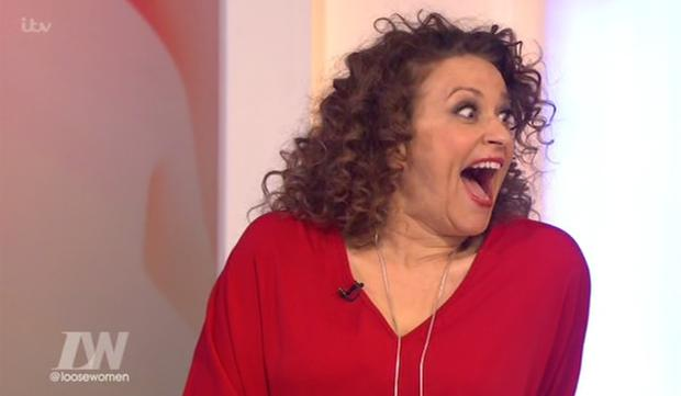 Loose Women panelist Nadia Sawalha reacts to Coleen Nolan's confession. Photo: ITV