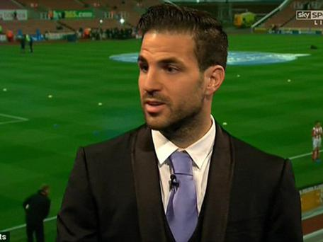 Cesc Fabregas on Monday Night Football Sky Sports