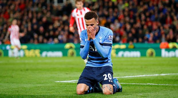 Tottenham's Dele Alli looks dejected after a missed chance Reuters / Darren Staples
