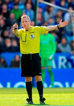 Referee Jonathan Moss. Photo: PA