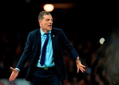 West Ham United manager Slaven Bilic. Photo: Getty