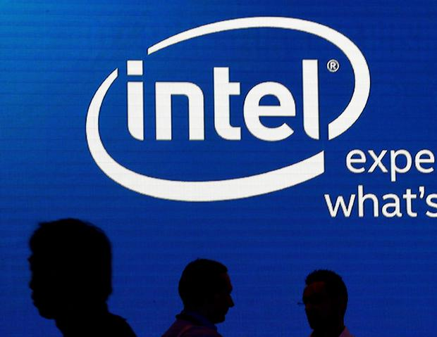 Shadows are cast near the Intel logo at the 2015 Computex exhibition in Taipei, Taiwan, June 3, 2015. REUTERS/Pichi Chuang/File photo