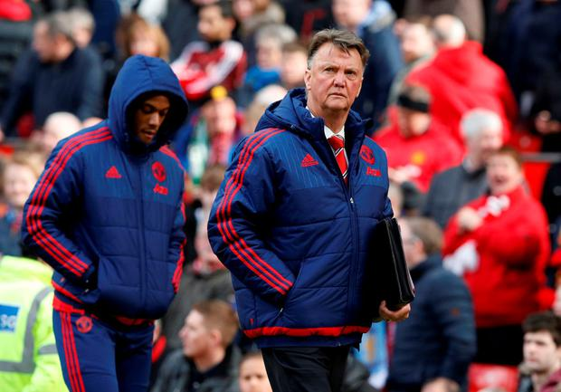 Manchester United manager Louis van Gaal knows only a win will suffice tonight. Photo: Reuters