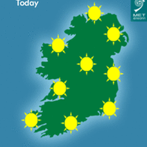 Today's forecast. Photo: Met Eireann