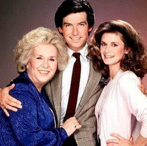 Pierce Brosnan shared a shot of him with Doris in Remington Steele
