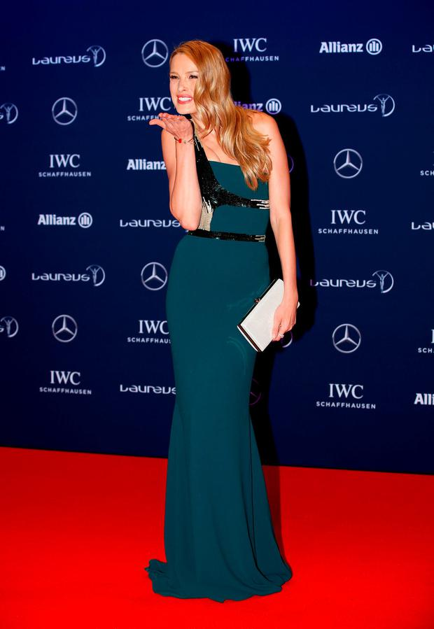 Model Petra Nemcova attends the 2016 Laureus World Sports Awards at Messe Berlin on April 18, 2016 in Berlin, Germany. (Photo by Boris Streubel/Getty Images for Laureus)