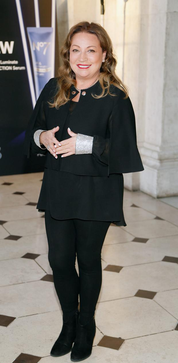 Norah Casey at Dublin City Hall to celebrate the launch of New No7 Lift & Luminate Triple Action Serum. Picture: Kieran Harnett