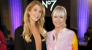 Yvonne Connolly and Helen Steele at Dublin City Hall to celebrate the launch of New No7 Lift & Luminate Triple Action Serum. Picture: Kieran Harnett