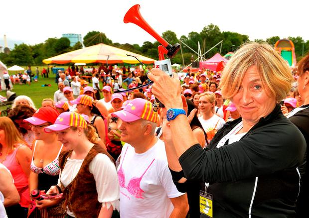 File photo dated 06/07/14 of Comedienne Victoria Wood (right) signalling the beginning of The SunWalk, London, a pirate themed charity walk to raise money and awareness for breast cancer John Stillwell/PA Wire