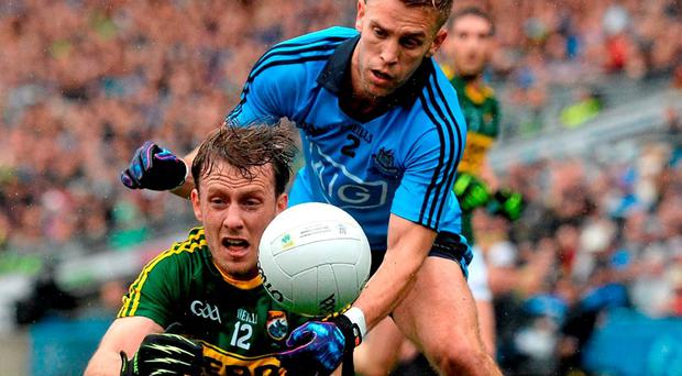 Donnchadh Walsh and Jonny Cooper are likely to renew rivalries when the country's two best teams battle it out in the league final. Photo: Paul Mohan / Sportsfile