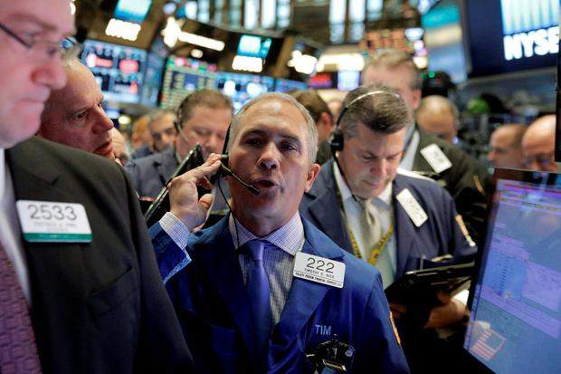 Traders gather for the IPO of real estate investment trust MGM Growth Properties LLC., on the floor of the New York Stock Exchange. Photo: Reuters