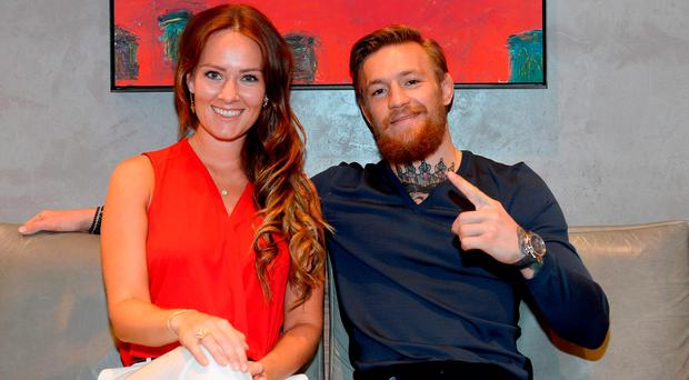 Conor McGregor and his partner Dee Devlin. Photo: Bryan Steffy/Getty Images for David Yurman