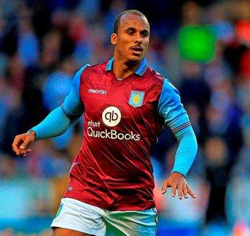 Aston Villa's Gabby Agbonlahor. Photo: Nick Potts/PA Wire.
