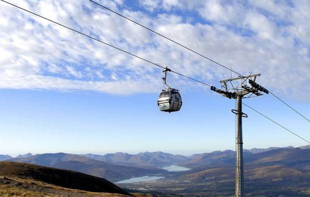 A gondola in operation at Ben Nevis