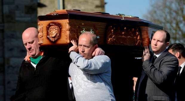 The funeral of cab driver Michael McGibbon