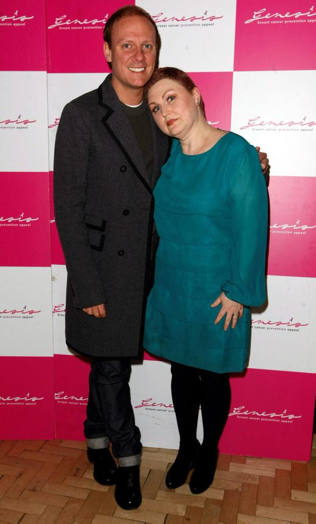 MANCHESTER, UNITED KINGDOM - MARCH 11: Antony Cotton, Morag Siller attend Cabaret for Cancer an evening of variety in aid of breast cancer charities, The Genesis Appeal and The Beechwood Cancer Care Centre at Royal Exchange Theatre on March 11, 2012 in Manchester, England. (Photo by Nathan Cox/Getty Images)
