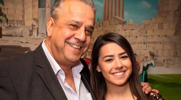 Irish Student Yasmine Dakik pictured with her Dad, Joe at their Clonee home