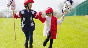 Ana (aged 11) and Isabella Dunne (aged 7) were on hand to announce that the AES Family Day at Punchestown Racecourse will take place on Saturday, 28th April.